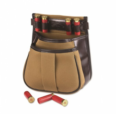 CANVAS & LEATHER SPORTING CLAYS POUCH