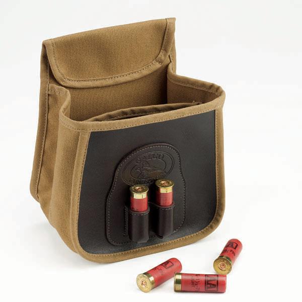 Leather shotgun shell belt pouch
